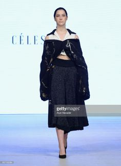 A model walks the runway wearing Celestine Studio at Vancouver Fashion Week Fall/Winter 2017 at Chinese Cultural Centre of Greater Vancouver on March 2017 in Vancouver, Canada. Get premium, high resolution news photos at Getty Images Winter 2017, Fall Winter, Cultural Center, Walks, Sample Resume, Vancouver, Centre, Runway, March