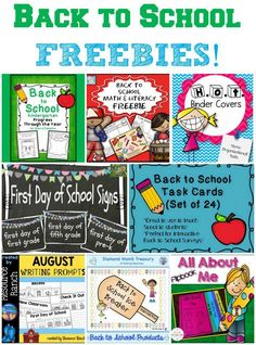 Back to School FREEBIES! Free printable back to school activities, posters and print-outs.
