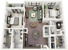 2+1 ev 3 boyutlu dizaynı