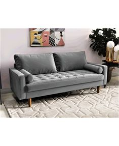 Small Couches Living Room, Living Room Without Sofa, Couches For Small Spaces, Small Sofa, Apartment Couch, Milan Apartment, Apartment Ideas, Most Comfortable Couch, Small Scale Furniture