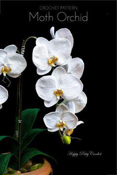 MODELLO orchidea  Crochet Pattern per la decorazione | Etsy