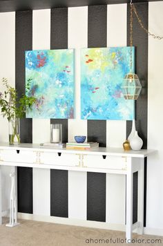 A Home Full Of Color: Entryway Revamp: Styled Two Ways Ikea Console Table