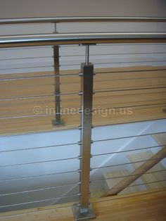 stainless steel cable railing... because I hate wood railings.