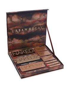 Urban Decay Naked Vault - It's the Naked arsenal you've been begging for! Experiment with a DOZEN of Urban Decay's most coveted Naked products—all in one ultra-luxe, limited-edition set. UD loaded their Naked Vault with a huge range of neutral shades for eyes, cheeks and lips. First up: ALL THREE of their bestselling Naked palettes—loaded with bronze, taupe and rose shades in an insane range of textures—along with the coordinating 24/7 Glide-On Double-Ended Eye Pencils.