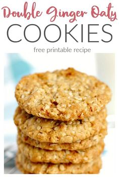 Double Ginger Oat Cookies Makes about 16 Oat Biscuit Recipe, Oat Cookie Recipe, Cookie Recipes, Dessert Recipes, Baking Recipes Uk, Uk Recipes, Baking Desserts, Healthy Recipes, Recipies