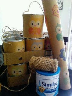 Make your Baby's old formula cans into Candy Bags for their First Birthday!