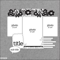 PageMaps Scrapbook Sketches, Scrapbook Albums, Scrapbooking Layouts, Page Maps, Mix Photo, Picture Layouts, One Pic, Diagram, 3 Picture