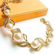Diamond Pearl Bracelet