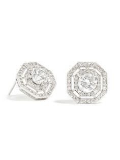 The asscher cut is renowned for its vintage-inspired style, so we love the look of these lovely studs that also boast a double pave crystal border.