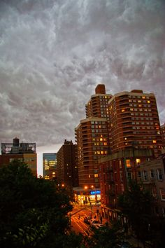 Clouds moving in over NYC 7-26-12