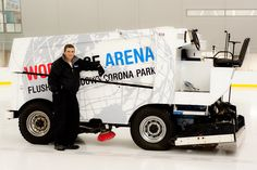 We resurface our ice with electric Zambonis