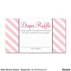 Baby Shower Games - Diaper Raffle Tickets - 774 Double-Sided Standard Business Cards (Pack Of 100)