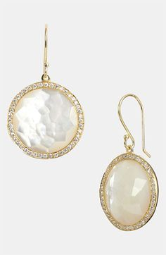 Ippolita 'Rock Candy - Lollipop' Diamond & 18k Gold Drop Earrings available at #Nordstrom