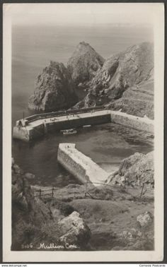 Mullion Cove Harbour, Cornwall, 1953 - Hawke RP Postcard