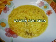 COCINA CON XENA: Caldo de pollo y verduras en GM E y sopa de fideos