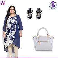 59837798c7e9a Plus Size Formal, Formal Looks, Stone Earrings, Hemline, Plus Size Women,  Dress Up, Tall Women, Costume, Women's Plus Sizes. Voonik