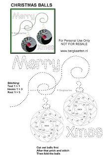 Irisvouwen: Christmas Balls
