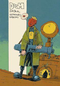 Jakub Kijuc - komiks, ilustracja: DOOM Patrol Ostatniej Godziny, cz.2