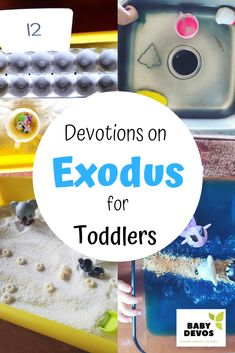 The Exodus for Toddlers and Preschoolers – Baby Devotions Devotions For Kids, Bible Activities For Kids, Preschool Bible, Bible For Kids, Preschool Lessons, Toddler Preschool, Toddler Activities, Toddler Bible Lessons, Youth Lessons