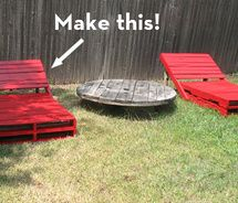 Pallet lounge chairs...awesome!