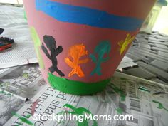 Mother's Day Gift Idea, Handprint Terra Cotta Planter
