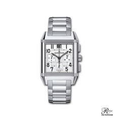 Jaeger-LeCoultre  Reverso Squadra Chronograph GMT Jaeger Lecoultre Reverso, Square Watch, Chronograph, Accessories, Clock Art, Jewelry Accessories