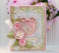 Beautiful Loveshakercard...lovely filled heart.