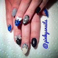pinkysnails:  Hello, 2013! New Years Nails by @allisonmdavey