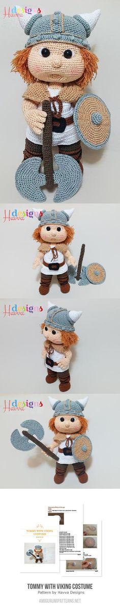 Tommy With Viking Costume Amigurumi Pattern