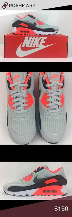 wholesale dealer 77a0d de014 Nike Air Max 90 Ultra SE INFRARED PLATINUM GREY Nike Air Max 90 Ultra SE  INFRARED