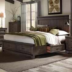 Thornwood Hills King Two Sided Storage Bed by Liberty Furniture
