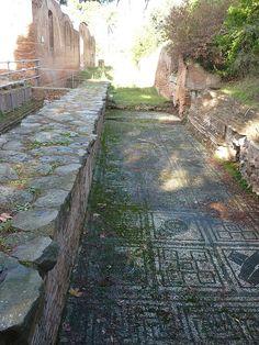 Etruscan road in Ostia Antica