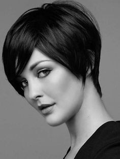 Totally Chic Short Bob Hairstyles For Girls. layered short bob hairstyles with bangs. short layered bob hairstyles for thick hair. short layered bob hairstyles for fine hair Best Short Haircuts, Popular Haircuts, Short Hairstyles For Women, Black Hairstyles, Pixie Haircuts, Pixie Hairstyles, Office Hairstyles, Formal Hairstyles, 2015 Hairstyles