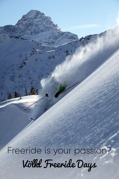 Do you want to drive the most beautiful and untouched slopes in Kleinwalsertal? Then you are in the right place at the Völkl Freeride Days! Cultural Events, Outdoor Activities, Niagara Falls, Most Beautiful, Day, Places, Travel Inspiration, Mountains, Lugares