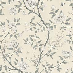 Romey's Garden  Graphite wallpaper by Zoffany
