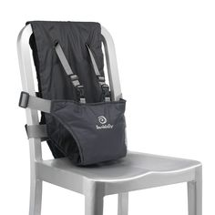 A portable baby seat for your little bundle, this ingenious harness invented by new mom Carren Rieger securely straps to adult chairs to instantly accommodate children five months old through their toddler years. Designed with a five-point safety harness with fully adjustable straps,this streamlined device makes traveling to airports, resorts and cafes safe and simple.