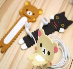 de silicona lindo oso de relax rilakkuma cuerda alambre de envoltura de cable winder organizador-Ataduras de cables-Identificación del producto:1329932930-spanish.alibaba.com
