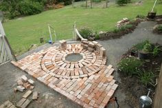 Use salvaged bricks for pathways and patios