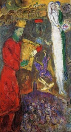 King David 1962 - 1963 Private collection Oil on canvas, 98 x 180 cm Marc Chagall