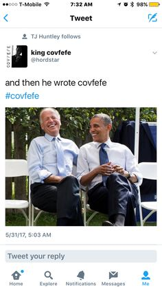 and then he wrote covfefe  #covfefe