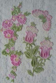 Hand dyed lace by Barbara Nicki Lee Seavey - Raviolee Dreams