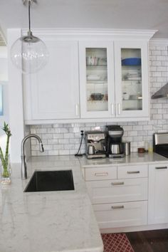 Bodbyn gray ikea kitchen white out cabinets are all we saved a ton of money by Ikea Bodbyn Kitchen, Grey Ikea Kitchen, Ikea Kitchen Countertops, Granite Kitchen, Buy Kitchen, Updated Kitchen, Kitchen Backsplash, Kitchen White, Kitchen Interior
