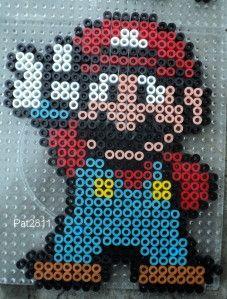Perle hama : Mario