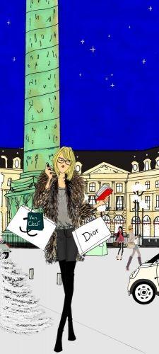 Angeline Melin #fashion #illustration #Paris