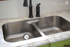 Beautiful Laminate Countertop with Undermount Sink | MyBlessedLife.net
