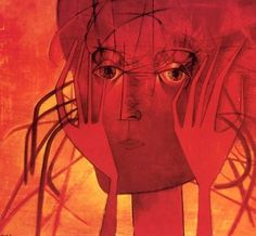 Mikuláš Medek - Head/Hands (1957). #painting #art #Czechia Painting Art, Hands, Art, Paintings, Painting