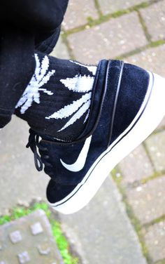 HUF socks are cool.   But the Nike Janoski's are another favorite sneaker of mine.