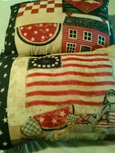 Patriotic pillows set of two