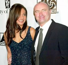 singer Phil Collins and his wife Orianne