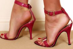 Only Stiletto Sandals Stilettos, Red Stiletto Heels, Open Toe High Heels, Sexy High Heels, Karl Kraus, Jazz Shoes, Ankle Strap Shoes, Strap Heels, Only Shoes